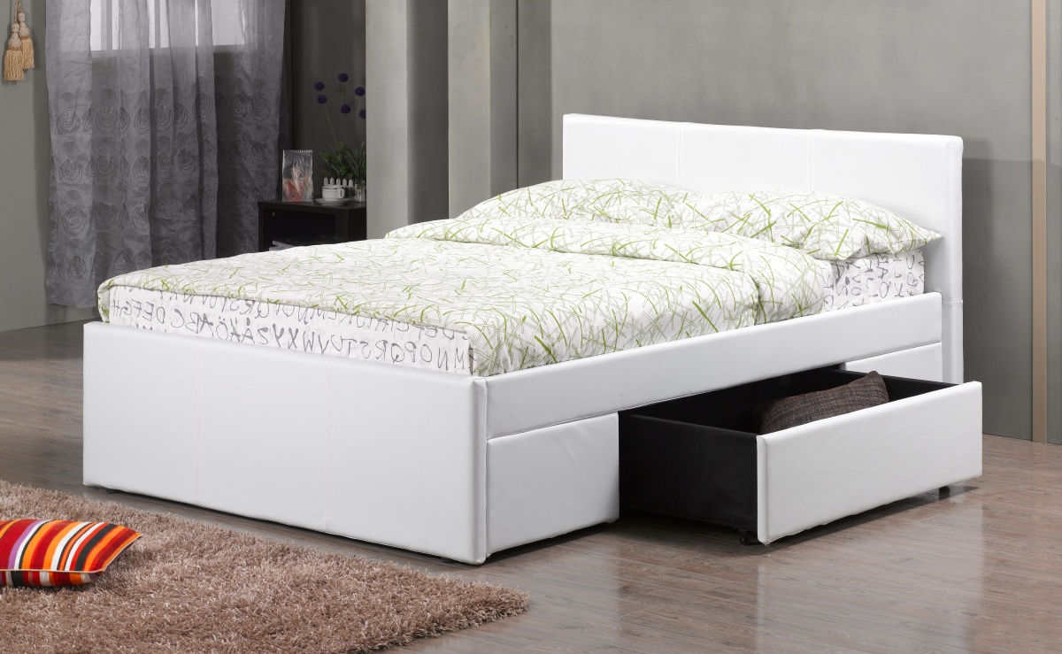 Fusion Pu 2 Drawer Bed Kingsize
