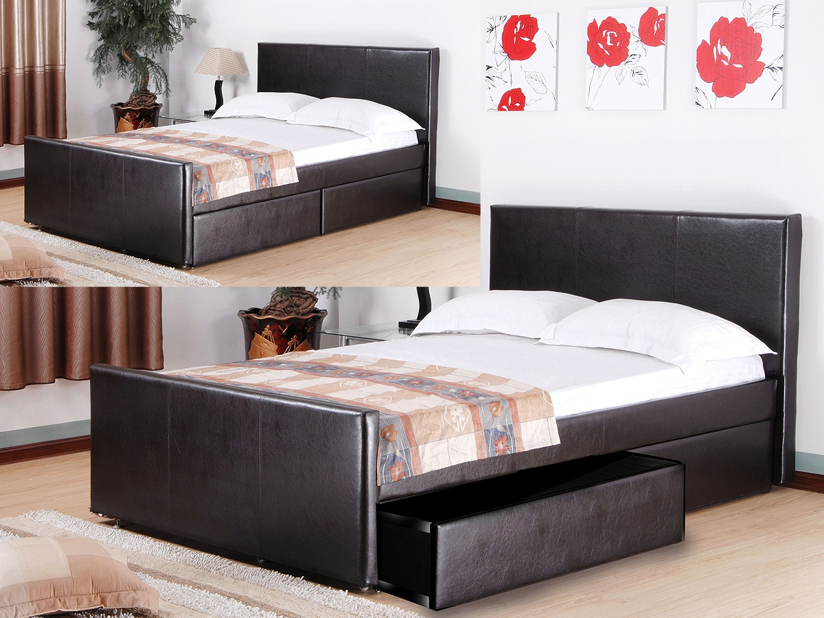 Brittanic Pu 4 Drawer Bed Boudle