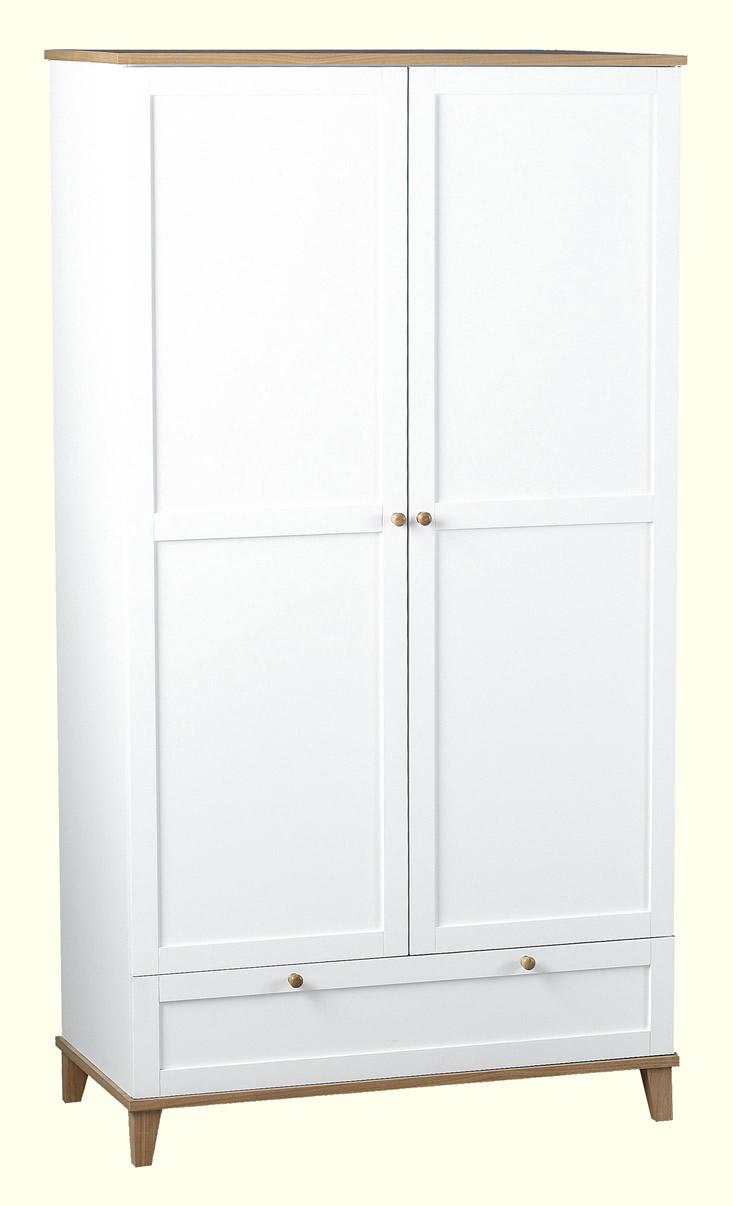 Arcadia 2 Door 1 Drawer Wardrobe