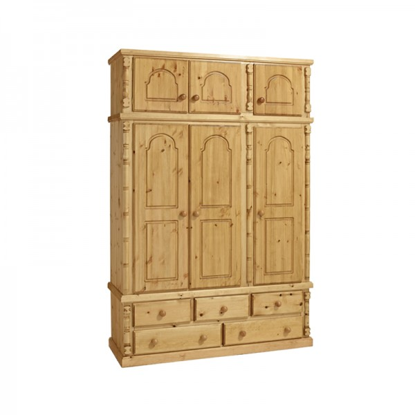 Ashley 3 Door Wardrobe + 5 Drawers With Topbox