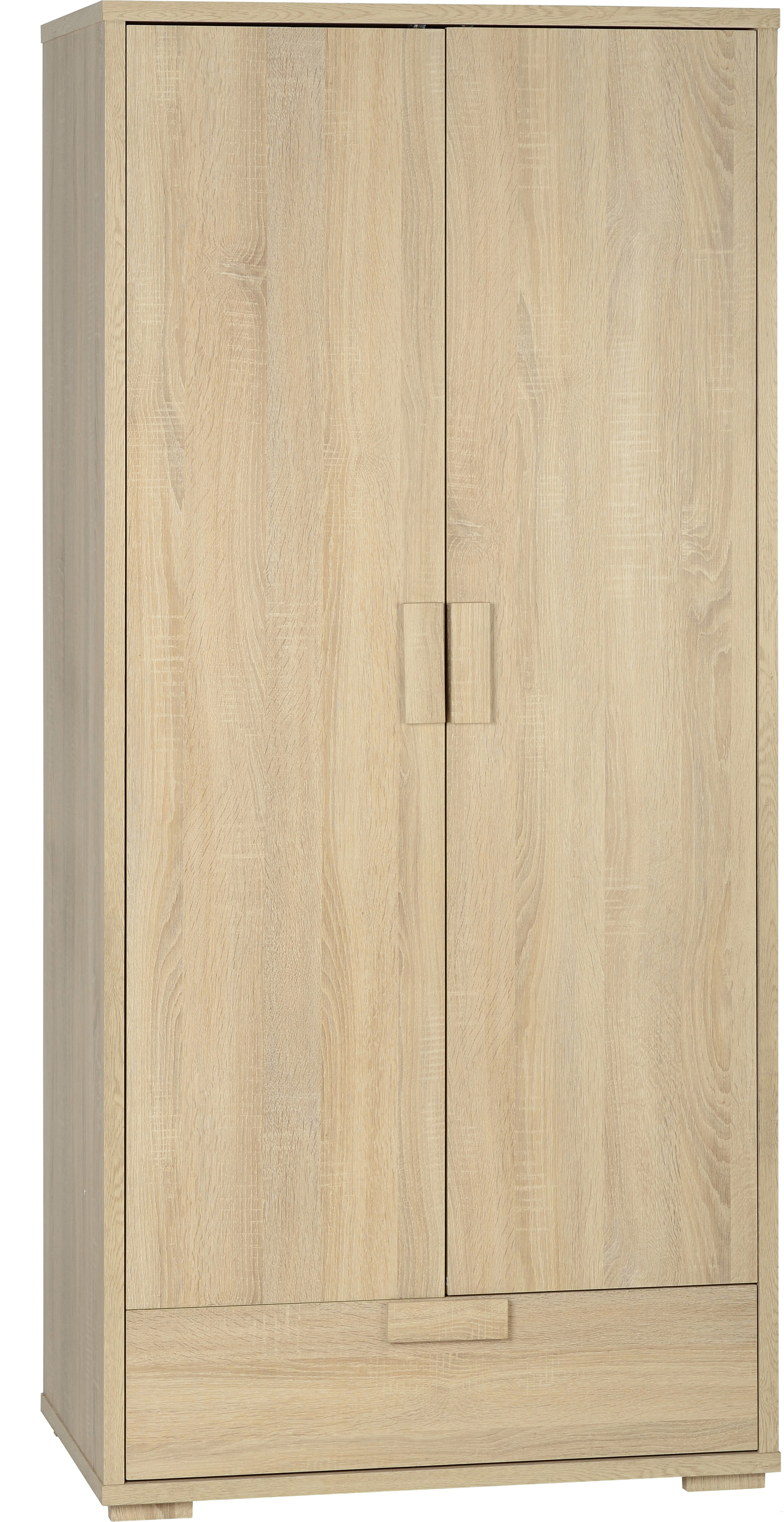 Cambourne 2 Door 1 Drawer Wardrobe