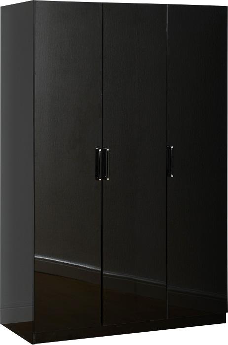 Charisma 3 Door Wardrobe Black