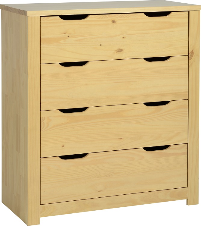 Eclipse 4 Drawer Chest Oak