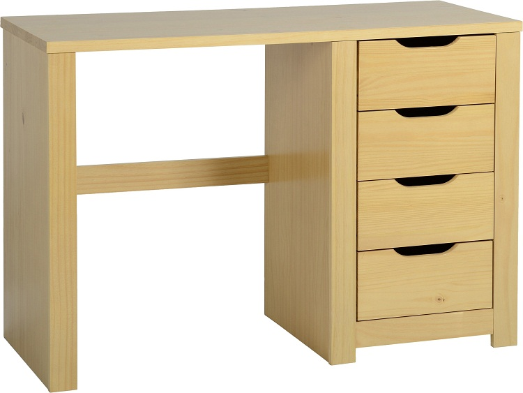 Eclipse 4 Drawer Dressing Table Oak