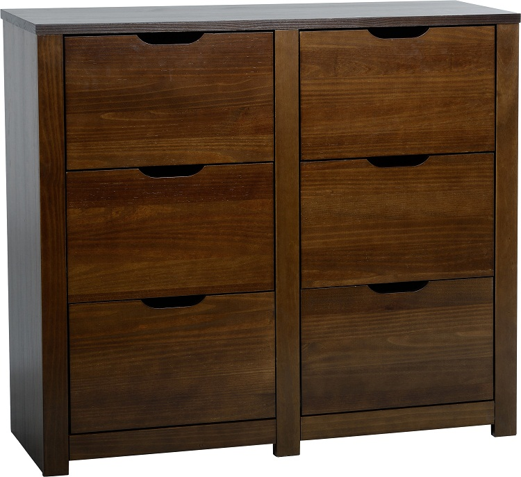 Eclipse 6 Drawer Chest Walnut