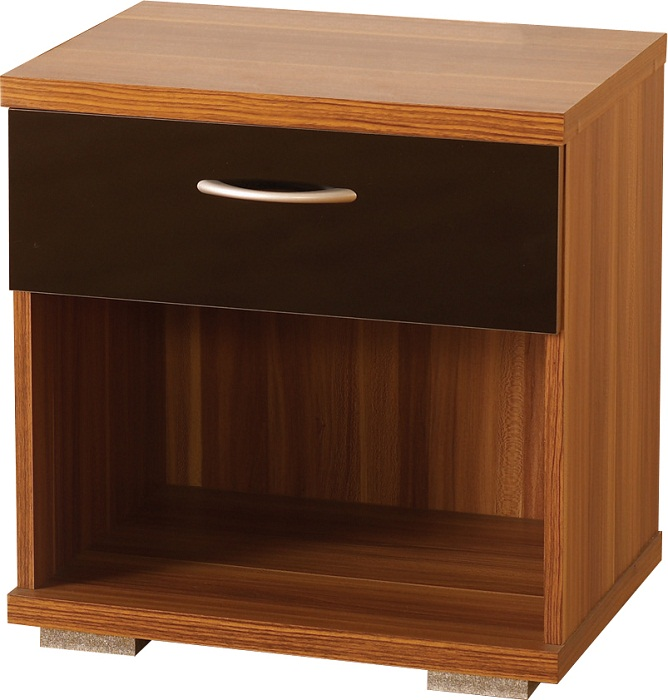 Hollywood 1 Drawer Bedside Cabinet