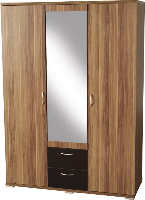 Hollywood 3 Door Mirrored Wardrobe