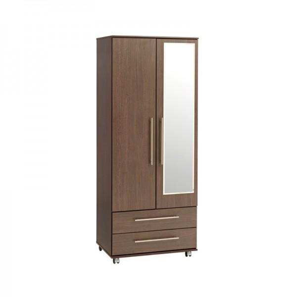 New York 2 Door 2 Drawers Wardrobe With Mirror