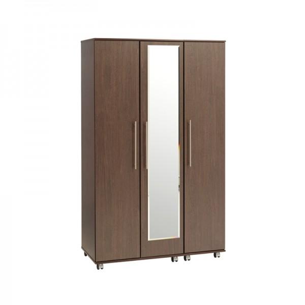 New York 3 Door Wardrobe With Mirror
