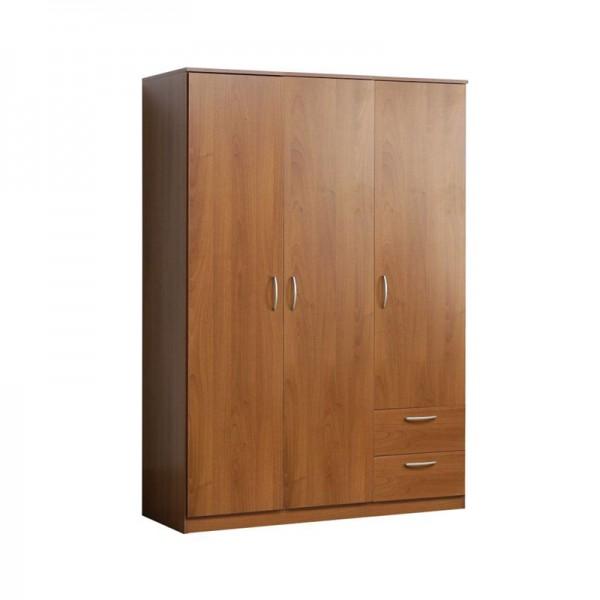Nikko 3 Door 2 Drawer Wardrobe
