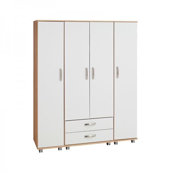 Regal 4 Door Wardrobe With 2 Drawers