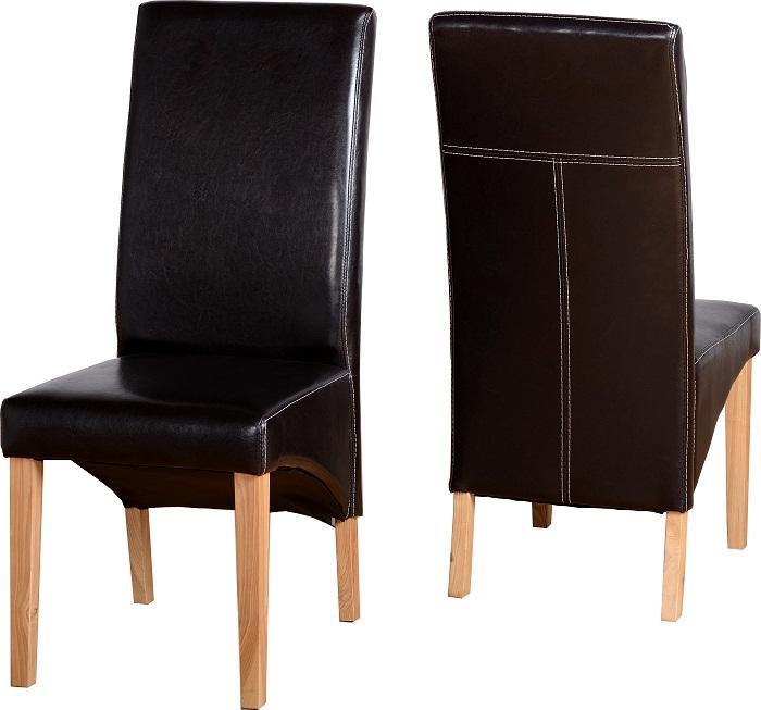 Chairs Exp Brown Pu
