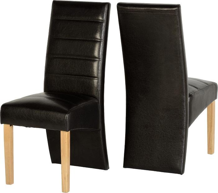 Chairs Oak Exp Brown Pu