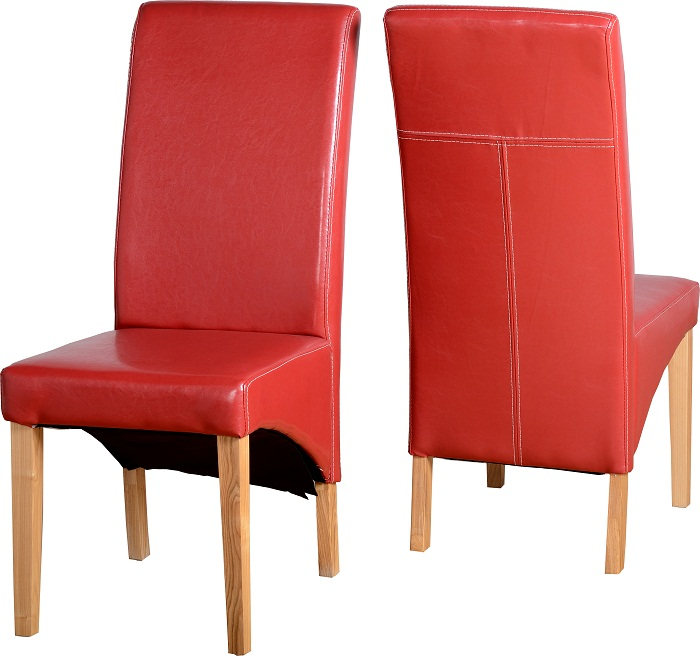 Chairs Rustic Red Pu
