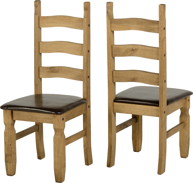Corona Chair Brown Pad Pair