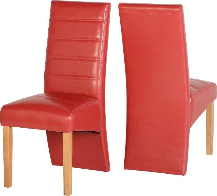 G5 Chairs Oak Red Pu