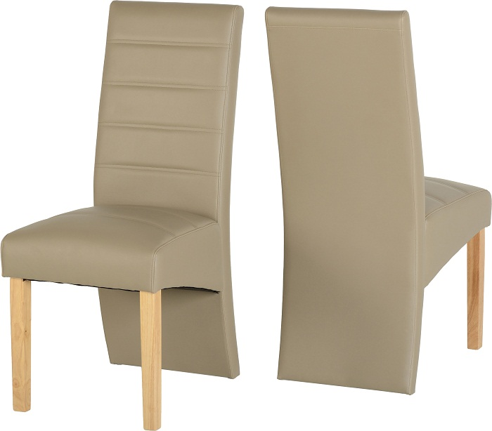 G5 Chairs Oak Taupe Pu