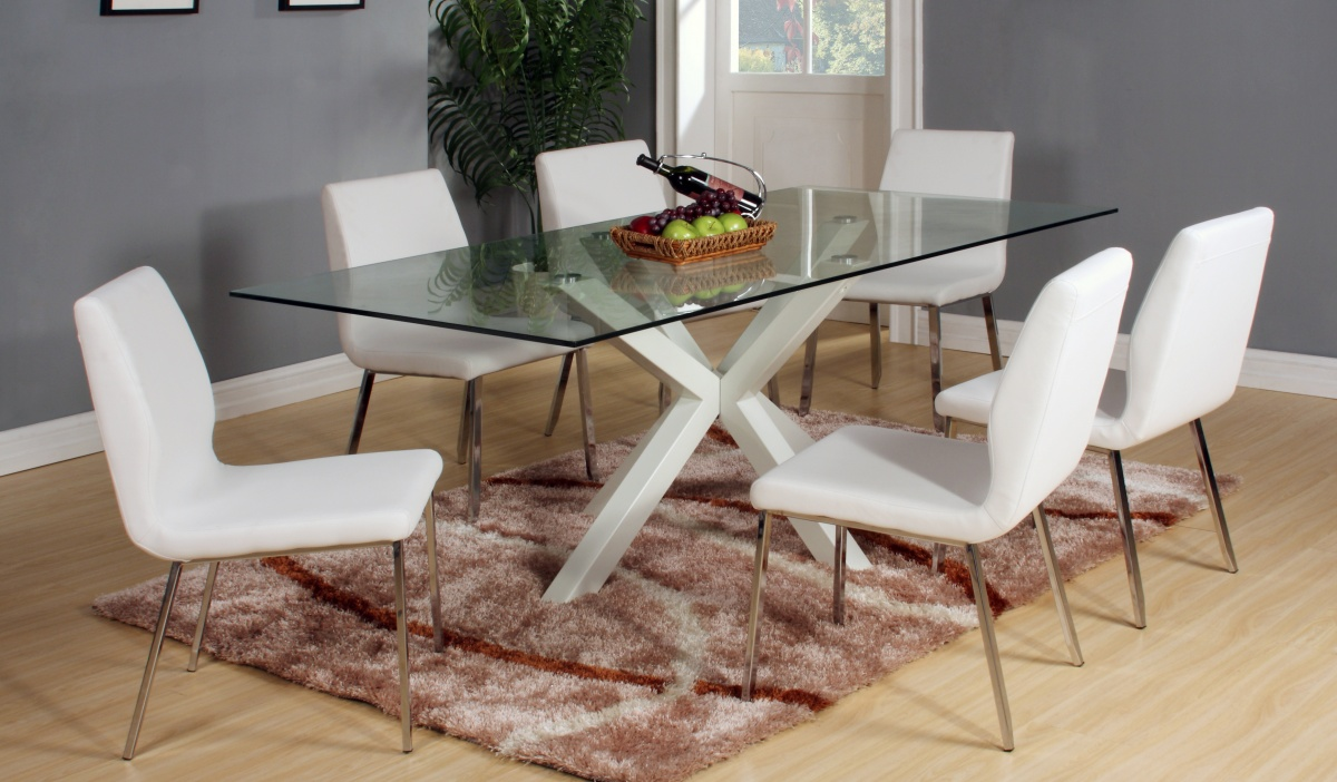 Langley White Dining Set
